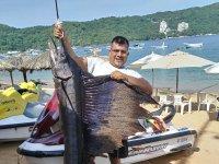 Presumiendo la pesca del día