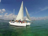 Trimaran ride to Isla Mujeres 8 hours