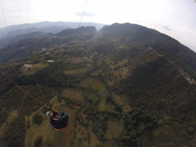 Paragliding flight with transfer in La Escalera