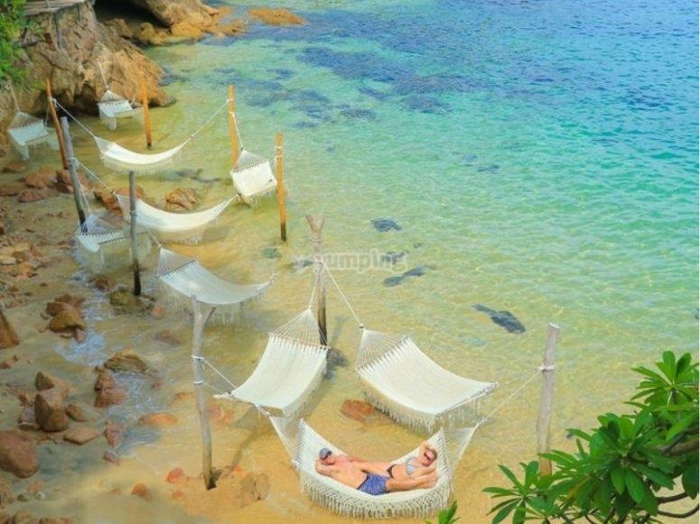Disfrutando Playa Las Caletas