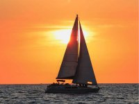 Luxury sailboat ride at sunset in Los Cabos