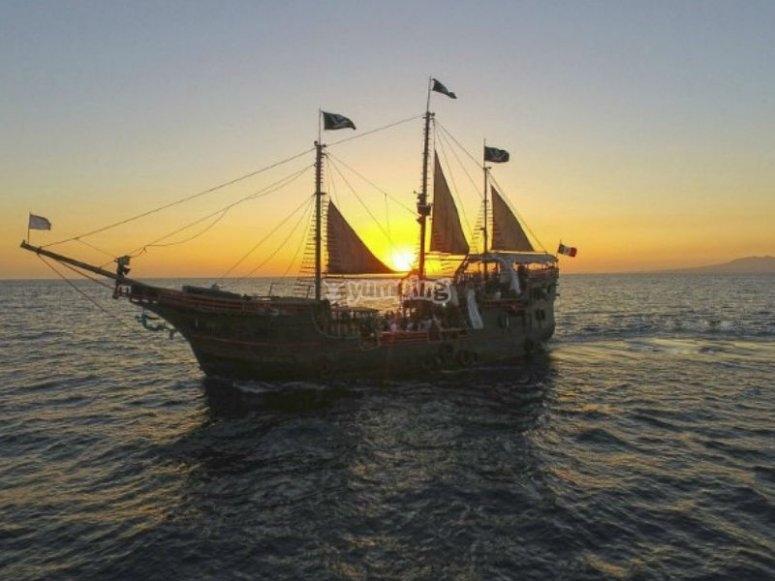 Barco pirata en Vallarta