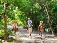 Horseback riding along the Pitillal River in Puerto Vallarta
