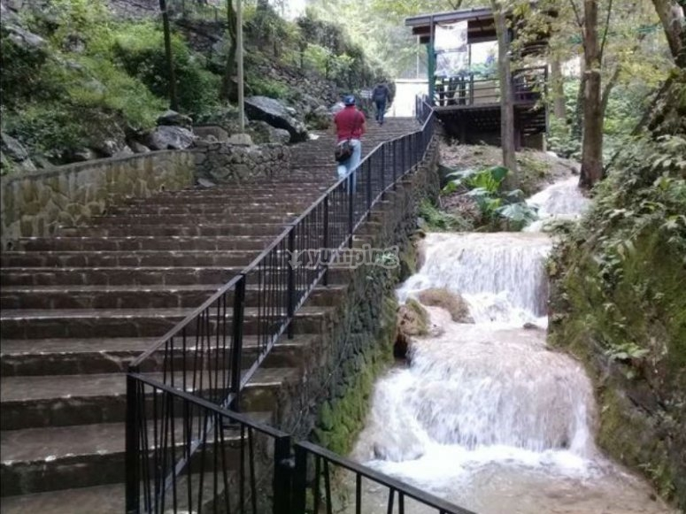 Climbing the waterfalls