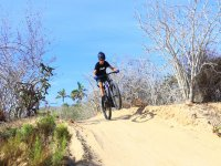Jumping with a mountain bike