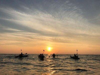 Kayak ride at sunrise in Huatulco bays