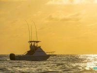 Boat tour at sunset in San Blas Bay