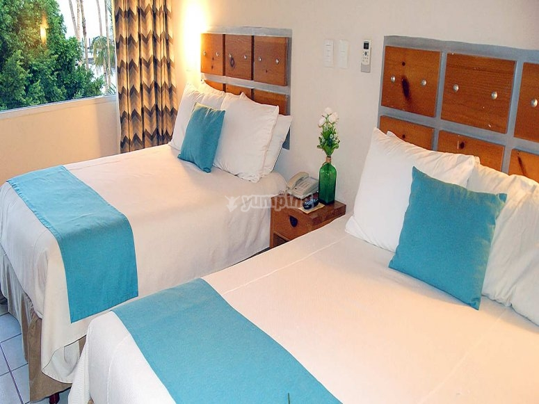 Habitaciones dobles en el hotel La Concha