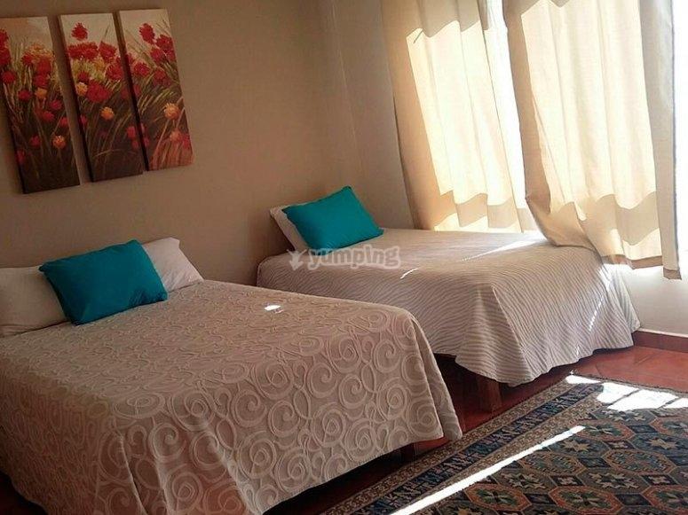 Alojamiento en habitación doble en hotel de La Paz