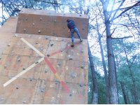 Live an adventure on our climbing wall