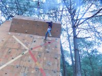 Our climbing wall surrounded by nature