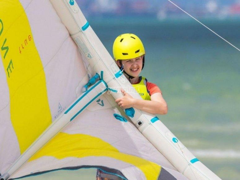Professional equipment for kitesurfing