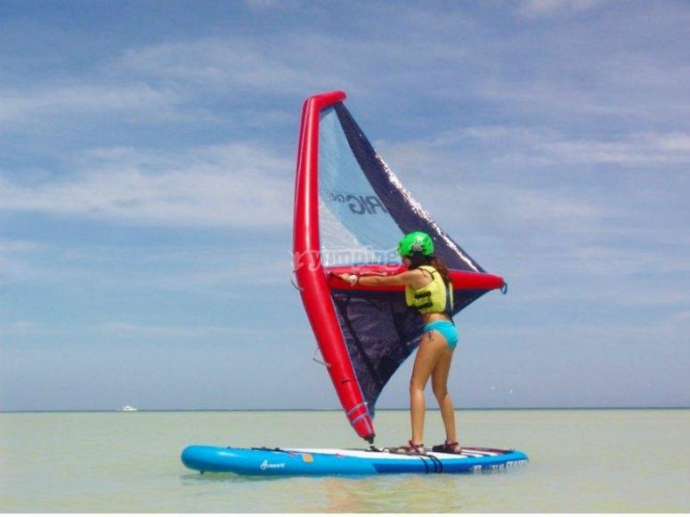 Guaranteed fun when practicing windsup