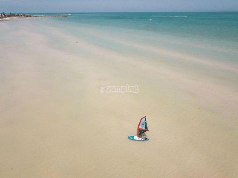 Progreso beaches ideal for windsup