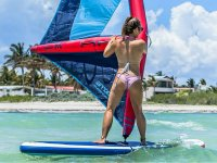 Practicing windsup on the beaches of Progreso