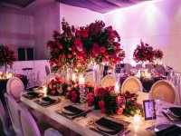 Decoracion floral en la mesa