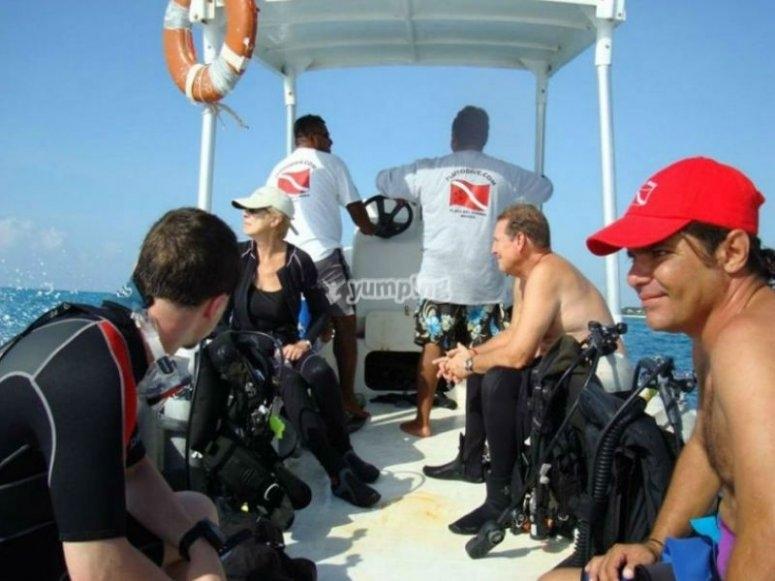 De camino a las inmersiones