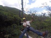 Extreme zip-line in Cola de Caballo 10 minutes
