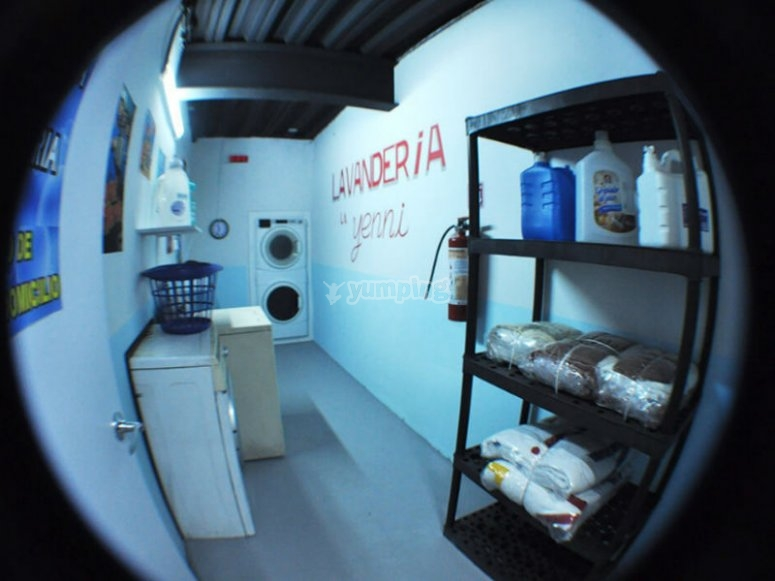 The laundry, the drug distribution center