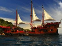 Pirate ship night tour with dinner Puerto Vallarta