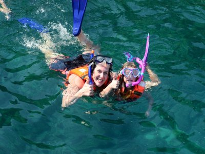 Majahuitas Island tour by pirate ship with snorkel