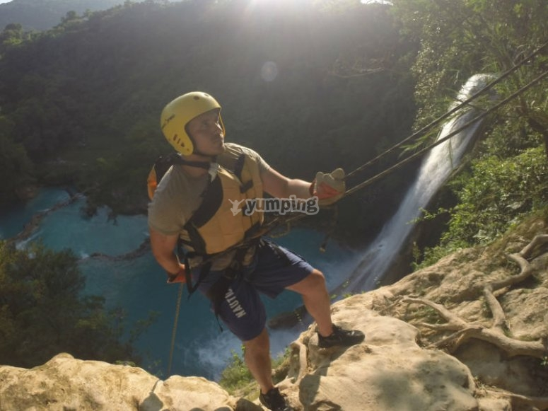 Pure adrenaline when jumping in the waterfalls