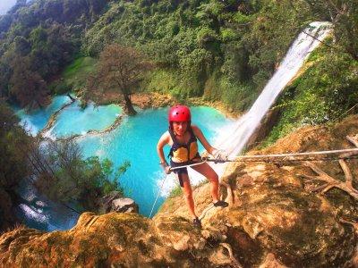 Rappel and rafting in Huasteca waterfalls 9 hours