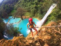 Rappel and rafting in Huasteca waterfalls 9 hours