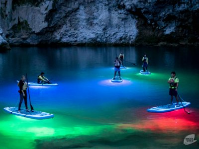Stand Up Paddle at night in Río Gallinas 4 h