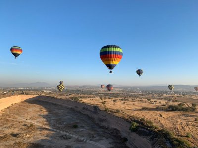 Balloon flight with toast in Tequisquiapan 1 hour