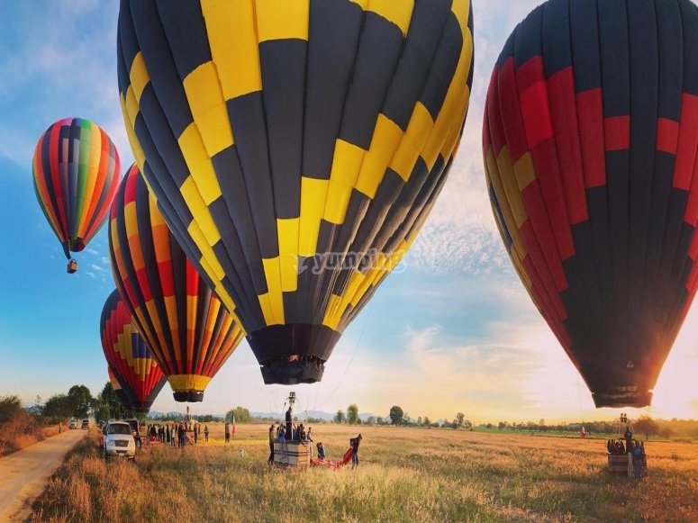 Landscapes and balloons