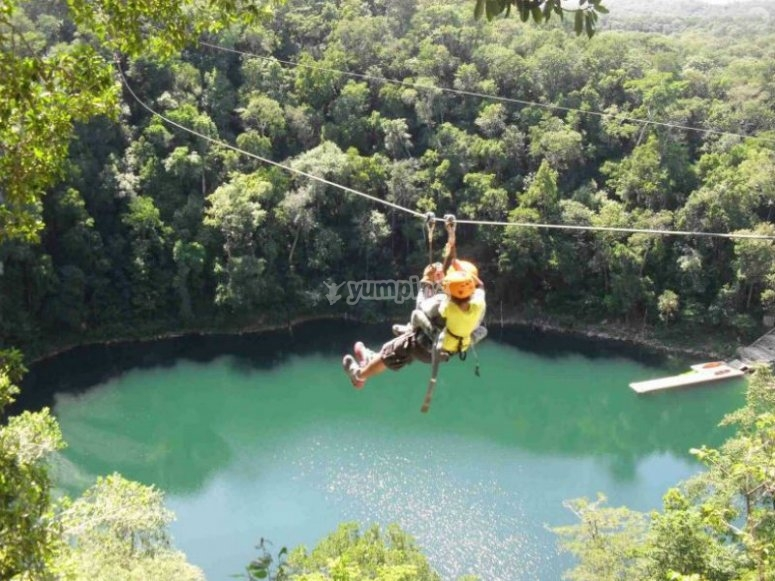 Zipline and cenote