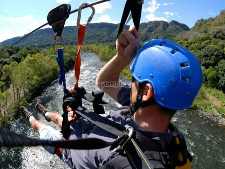Incredible views of Jalcomulco from our zip line