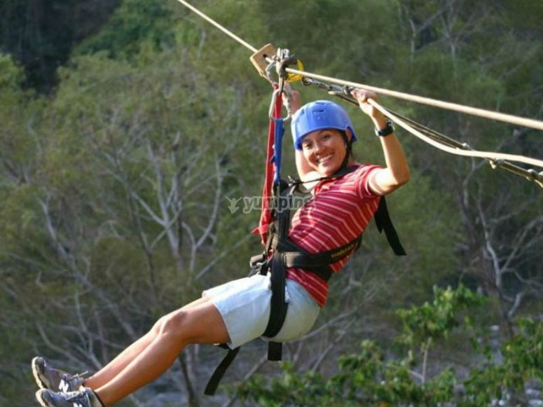 Jalcomulco, the ideal place to get on the zip line
