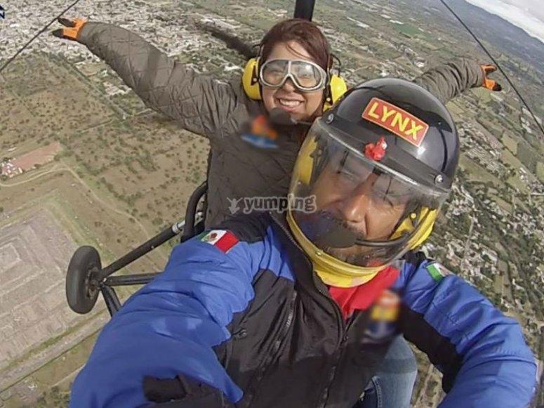 Feel the adrenaline when flying in an ultralight