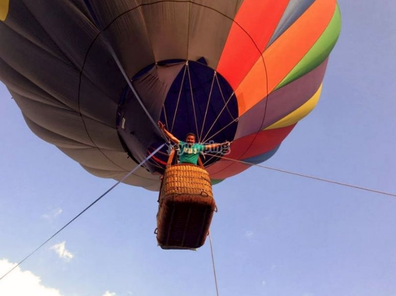 Emotions on the surface while traveling in a hot air balloon