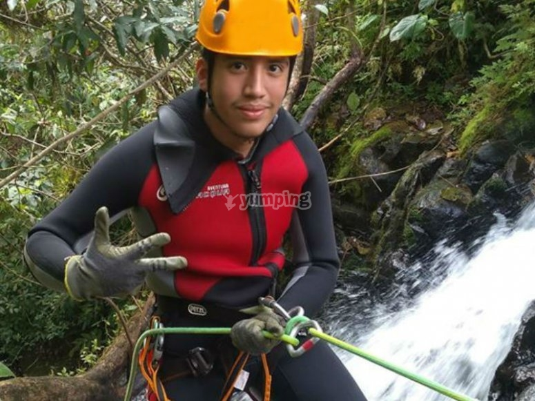 We provide you with the necessary equipment to rappel
