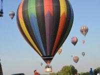 Vuelo en globo en el festival