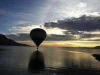 Flying near the lake