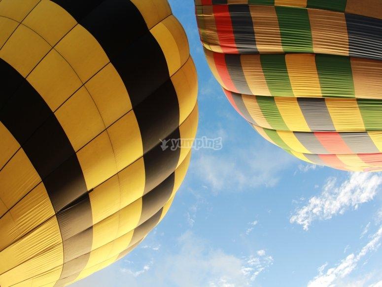 Hot air balloons ready