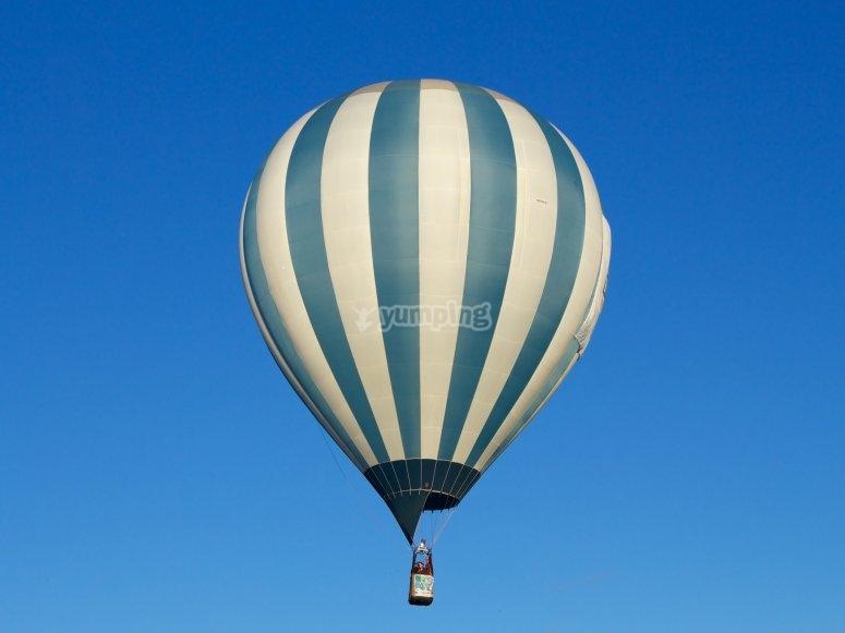 Hot air balloon over the sky