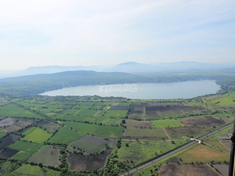 Panorama towards the lake