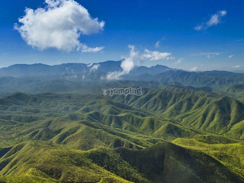 An island among mountains