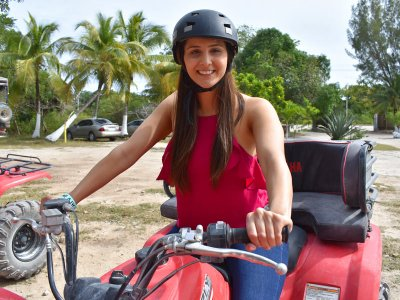 ATV route to cenotes circuit in Riviera Maya