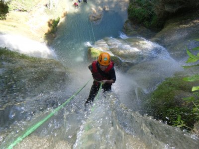 Canyoning in Mil Cascadas.