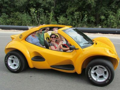 Tour in private buggy and snorkel in Cozumel 5 hours