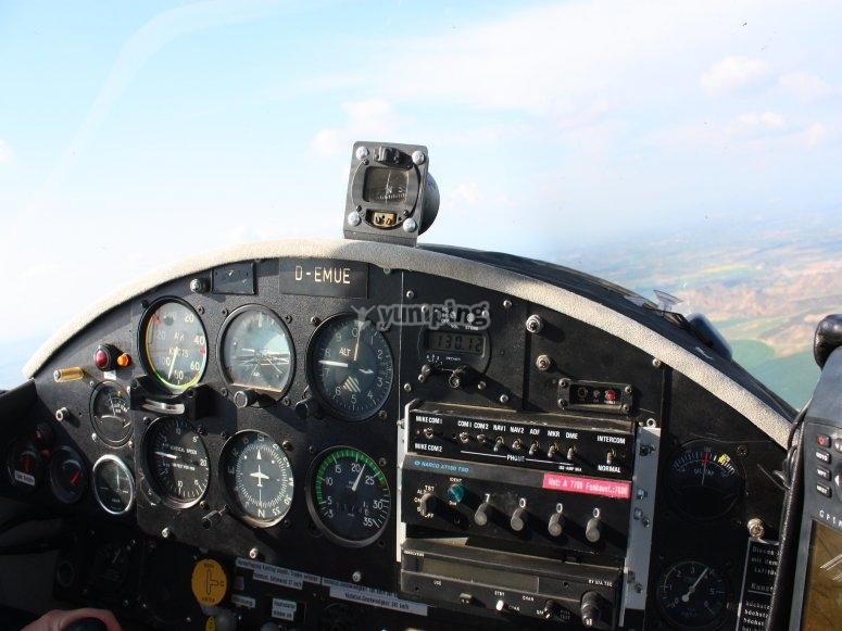 Piloting a light aircraft