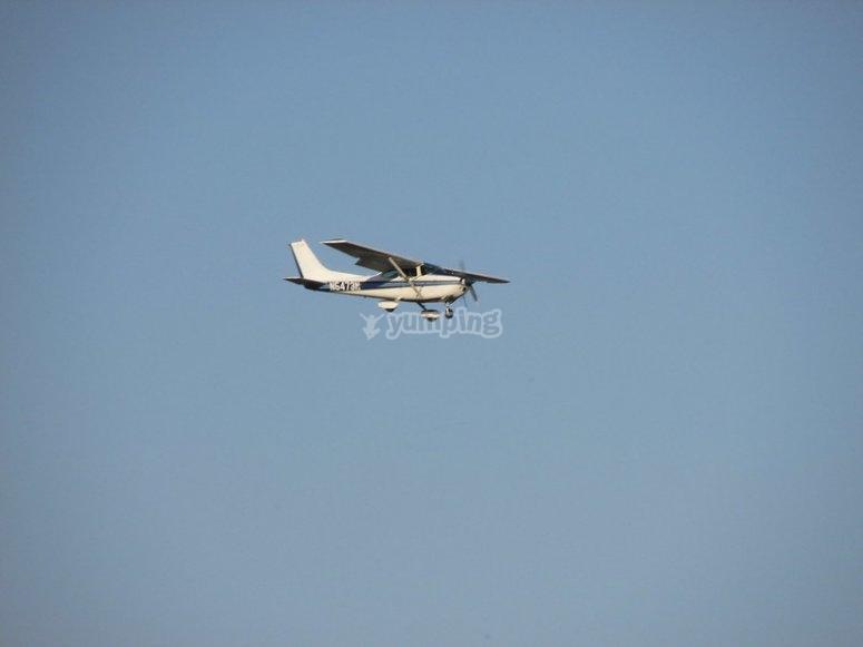 Flying in Cessna