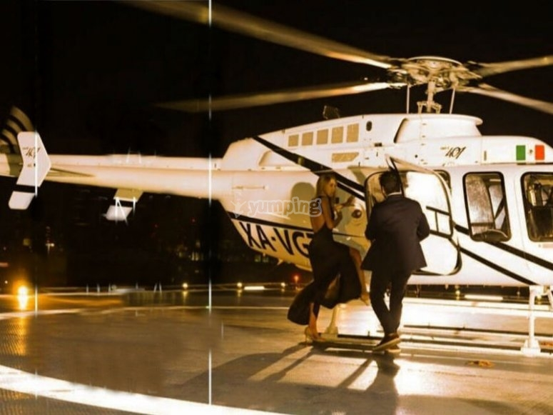 Surprise in helicopter