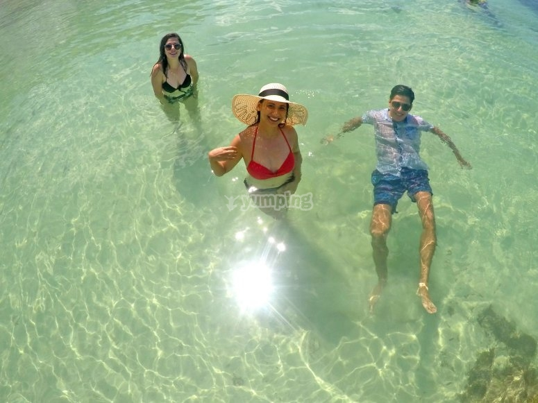 Enjoy its crystal clear waters